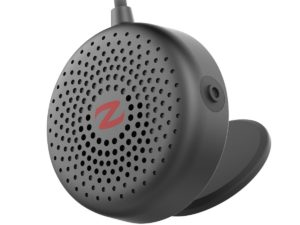 zulu alpha wearable speakers black close up right