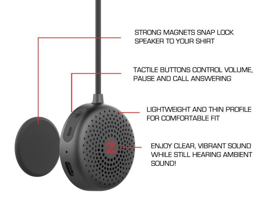 zulu alpha wearable speakers specifications