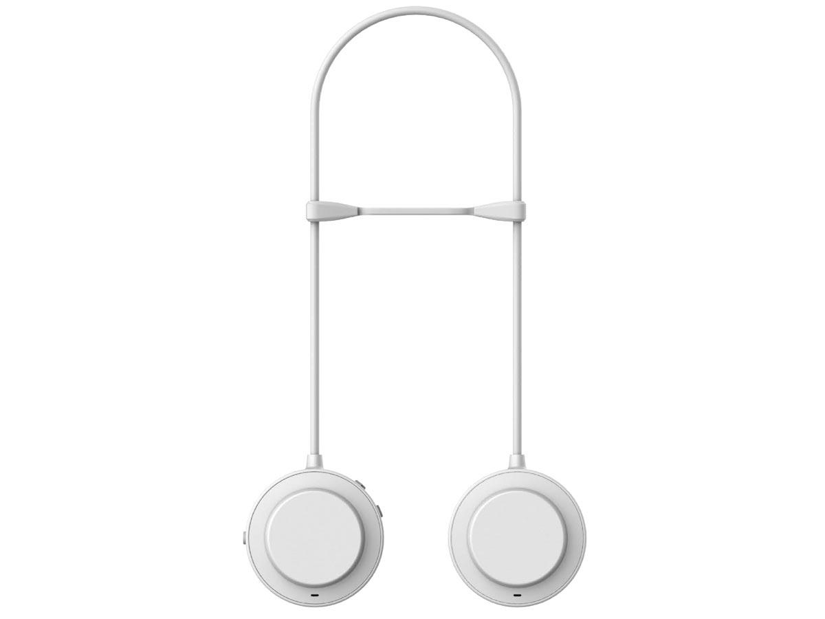 zulu alpha wearable speakers white back