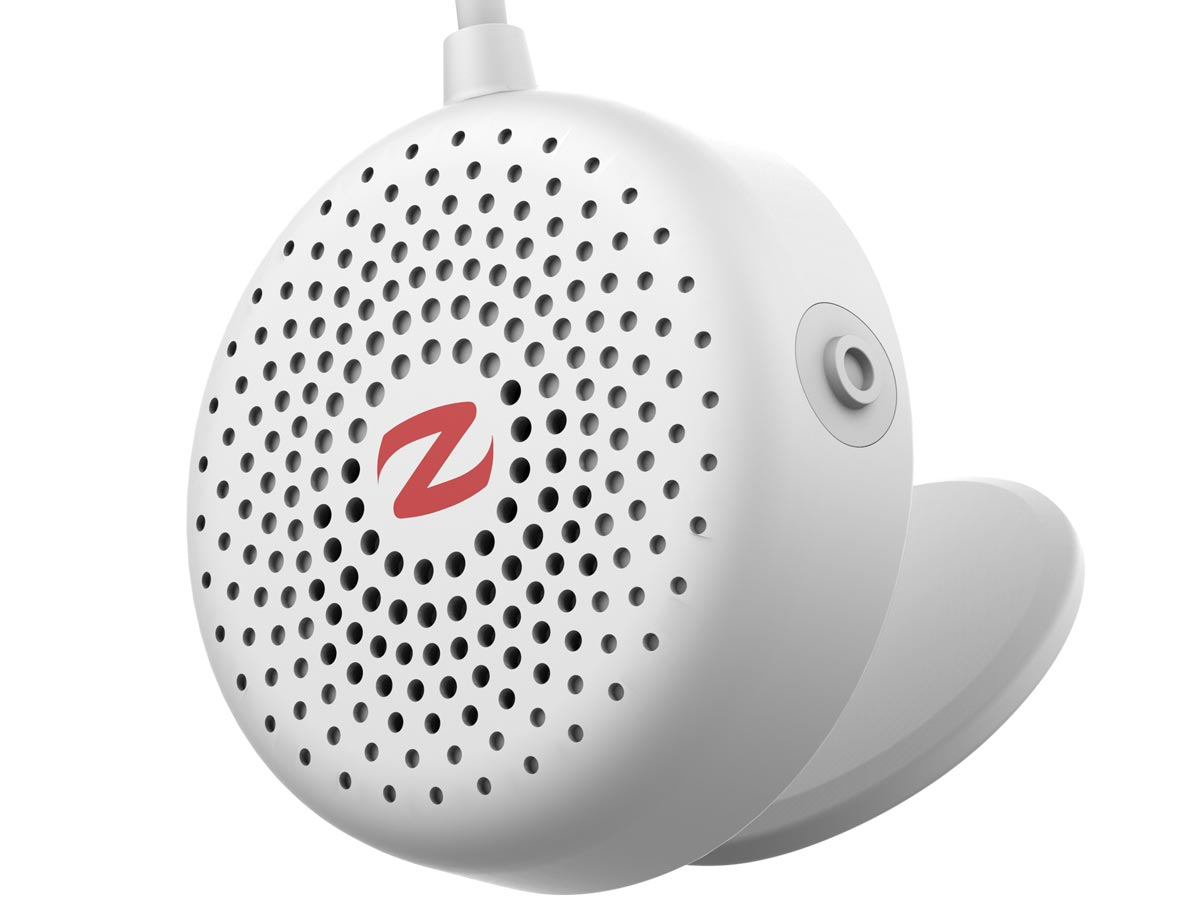 zulu alpha wearable speakers white close-up right